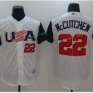 2017 USA World Baseball Classic Jersey 22 Andrew McCutchen WHite Baseball Jerseys