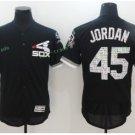 chicago white sox #45 jordan baseball black 2017 Baseball Jerseys Style 3
