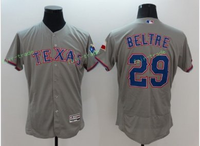 2017 Flexbase Stitched Texas Rangers 29 Adrian Beltre Grey Road Flex base Jersey Style 1