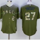 Los Angeles Angels #27 Mike Trout Home Away Baseball Jersey Green Throwback Stitched Jerseys