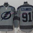 2016 Men's Tampa Bay Lightning Hockey Jerseys #91 Steven Stamkos Jersey Grey  Stitched Jerseys