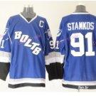 2016 Men's Tampa Bay Lightning Hockey Jerseys #91 Steven Stamkos Jersey Blue White Stitched Jerseys