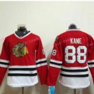 Women's Chicago Blackhawks Hockey Jerseys #88 Patrick Kane Ladies Red Anthentic Stitched Jerseys