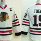 Youth Jonathan Toews Jersey Chicago Blackhawks Toews Jerseys 19 Kids White Hockey Jersey