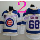 Chicago Cubs #68 jorge soler Baseball Hooded Stitched Old Time Hoodies Sweatshirt Jerseys