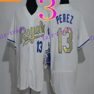 Kansas City Royals #13 Salvador Perez 2016 Baseball Jersey Authentic Stitched