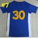 2016 Stitched Basketballl Jerseys #30 Curry Blue Jersey Rev 30 Embroidery Style 2
