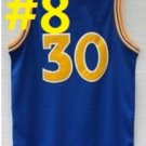 2016 Stitched Basketballl Jerseys #30 Curry Blue Jersey Rev 30 Embroidery Style 3