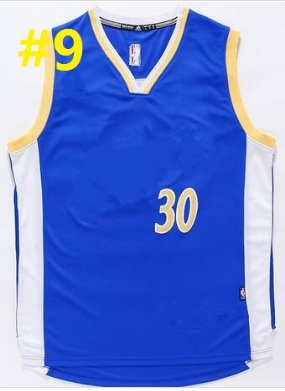 2016 Stitched Basketballl Jerseys #30 Curry Blue Jersey Rev 30 Embroidery Style 4