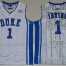 Duke Blue Devils College 1 Kyrie Irving Basketball Jerseys White Alternate Embroidery Style 3