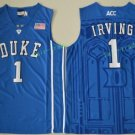 Duke Blue Devils College 1 Kyrie Irving Basketball Jerseys Blue Alternate Embroidery Style 2