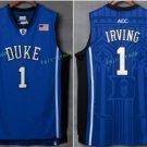 Duke Blue Devils College 1 Kyrie Irving Basketball Jerseys Blue Alternate Embroidery Style 3