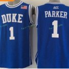 Duke Blue Devils College 1 Jabari Parker Basketball Jerseys Blue Alternate Embroidery