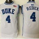 Duke Blue Devils Basketball Jerseys College Men 4 JJ Redick WHite Stitched