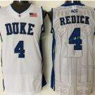 Duke Blue Devils Basketball Jerseys College Men 4 JJ Redick WHite Blue Stitched