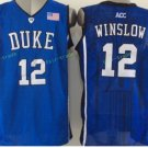 Duke Blue Devils Basketball Jerseys College Men 12 Justise Winslow Blue Stitched
