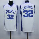 #32 Christian Laettner Duke Blue Devils College Jersey White Men's  Basketball Jerseys