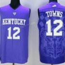Kentucky Wildcats Jerseys 2017 College #12 Karl-Anthony Towns Uniforms Home Purple