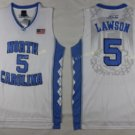 2017 North Carolina Tar Heels College 5 Lawson White Jersey