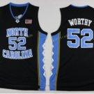 2017 North Carolina Tar Heels College 52 James Worthy Black Jersey