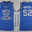 2017 North Carolina Tar Heels College 52 James Worthy Blue Jersey