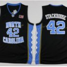 2017 North Carolina Tar Heels College 42 Jerry Stackhouse Black Jersey