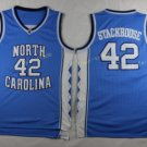 2017 North Carolina Tar Heels College 42 Jerry Stackhouse Blue Jersey