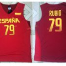 2017 RIO Spain Team Jersey Shirts Uniform 79 Ricky Rubio Fashion  Home Color Red