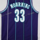 Basketball Jerseys 33 Alonzo Mourning Throwback Jerseys Purple Shirt Unifor