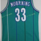 Basketball Jerseys 33 Alonzo Mourning Throwback Jerseys Blue Shirt Unifor