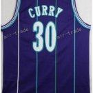 Basketball Jerseys 30 Dell Curry Throwback Jerseys Purple Shirt Unifor