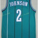 Basketball Jerseys 2 Larry Johnson Throwback Jerseys Blue Shirt Unifor