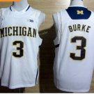 2017 College Michigan Wolverines Jerseys Big 13 Trey Burke WHite Shirt Uniform