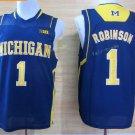 2017 College Michigan Wolverines Jerseys Big 1 Glenn Robinson Blue Shirt Uniform