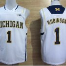 2017 College Michigan Wolverines Jerseys Big 1 Glenn Robinson Yellow Shirt Uniform