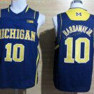 2017 College Michigan Wolverines Jerseys Big 10 Tim Hardaway Jr. Blue Shirt Uniform
