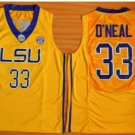 LSU Tigers College Jerseys 2017 Fashion 33 Shaquille ONeal Jersey Shirt Uniforms Yellow