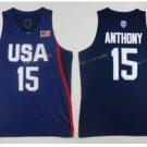 2017 Dream Twelve Team USA Jerseys 15 Carmelo Anthony Navy