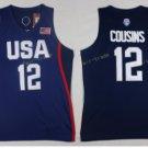 2017 Dream Twelve Team USA Jerseys 12 Demarcus Cousins Navy