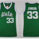 Michigan State Spartans Jerseys 2017 College Throwback 33 Johnson Shirt Green White