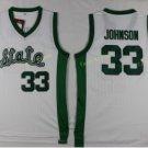 Michigan State Spartans Jerseys 2017 College Throwback 33 Johnson Shirt White