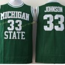Michigan State Spartans Jerseys 2017 College Throwback 33 Johnson Shirt Green Uniform
