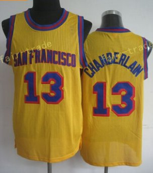 13 Wilt Chamberlain Throwback Jerseys Uniforms Rev Chamberlain Shirt Retro Home Yellow