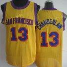 13 Wilt Chamberlain Throwback Jerseys Uniforms Rev Chamberlain Shirt Retro Home Yellow