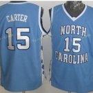 2017 Men 15 Vince Carter Jersey Throwback North Carolina College Shirts Uniforms Team Blue