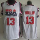17 Chris Mullin White Throwback Jerseys USA Dream Team Retro Shirts Retro Uniforms