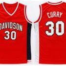 Best Quality 30 Stephen Curry Jersey Shirt Throwback Davidson Wildcats College Uniforms Red