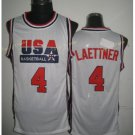 4 Christian Laettner  Shirts Uniforms 1992 USA Dream Jersey Fashion Team Color White