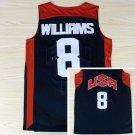 Dream Team 2017 USA Jersey 8 Deron Williams Black Basketball Jerseys Best
