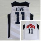 Dream Team 2017 USA Jersey 11 Kevin Love White Basketball Jerseys Best